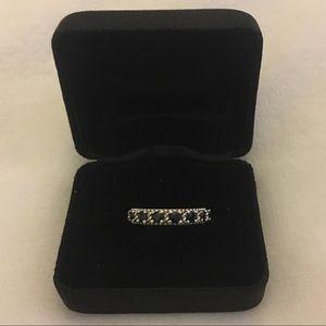 Judith Ripka Sterling Ring W/ Sapphires